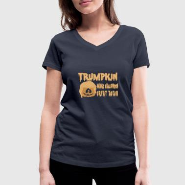 Happy Trumpkin Make Halloween Great Again Camisetas - Camiseta ecológica mujer con cuello de pico de Stanley & Stella