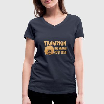 Happy Trumpkin Make Halloween Great Again Magliette - T-shirt ecologica da donna con scollo a V di Stanley & Stella