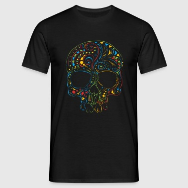 Skull in Colour men's Tshirt - Men's T-Shirt