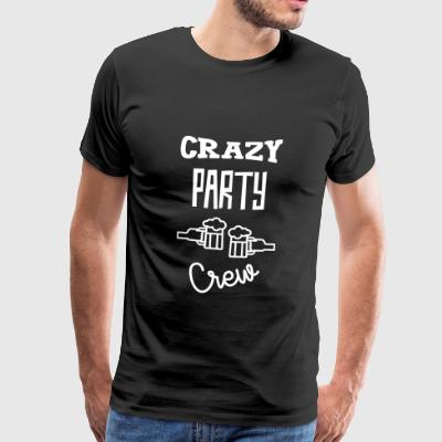 Crazy Party Crew - Alcohol - Alcool - Beer - Bière T-shirts - Herre premium T-shirt