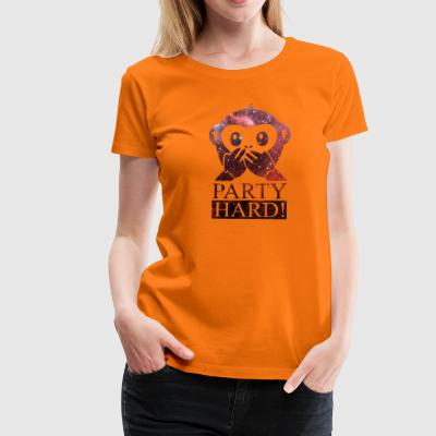party hard! with monkey 3 T-Shirts - Frauen Premium T-Shirt