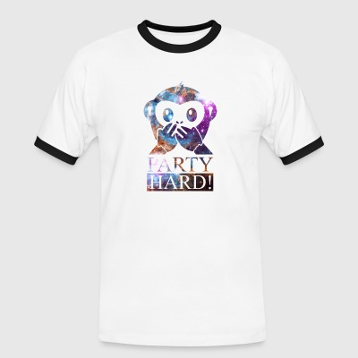 party hard! with monkey 1 T-Shirts - Männer Kontrast-T-Shirt