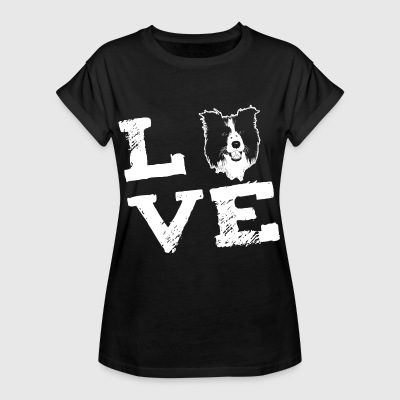 LOVE - Border Collie T-shirts - Vrouwen oversize T-shirt