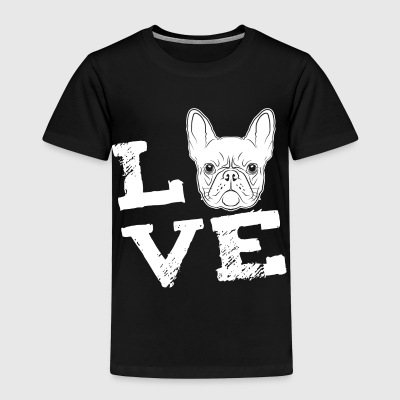 LOVE - French Bulldog - French Bulldog Shirts - Kids' Premium T-Shirt