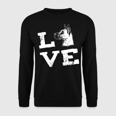 LOVE - Great dane -  Deutsche Dogge Hoodies & Sweatshirts - Men's Sweatshirt