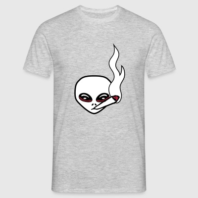 head face joint smoking drugs cannabis weed cigare T-Shirts - Men's T-Shirt