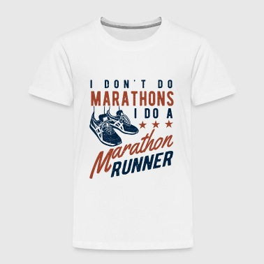 I don't do Marathons i do a Marathon runner  T-shirts - Premium-T-shirt barn