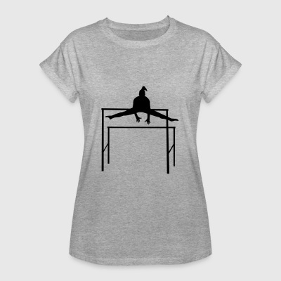 Gymnastics, Gymnast doing Uneven Bars T-shirts - Vrouwen oversize T-shirt