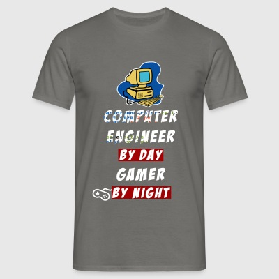 Computer Engineer - Computer engineer by day gamer - Men's T-Shirt