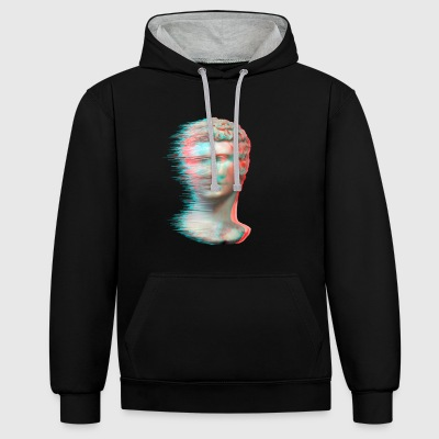 Classical Glitch - Contrast Colour Hoodie