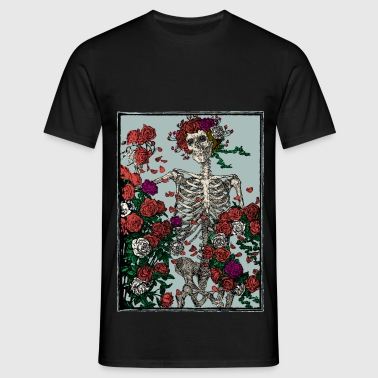 Skeleton and roses - Men's T-Shirt
