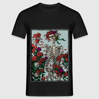 Skeleton and roses - Camiseta hombre