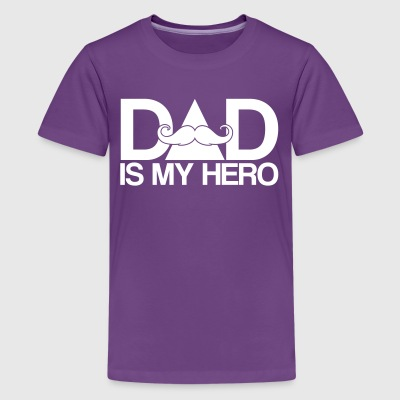 Papa is mijn held - papa is mijn held - vaderdag Shirts - Teenager Premium T-shirt