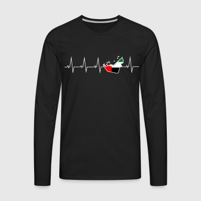 I love United Arab Emirates - United Arab Emirates - heartbeat Long sleeve shirts - Men's Premium Longsleeve Shirt