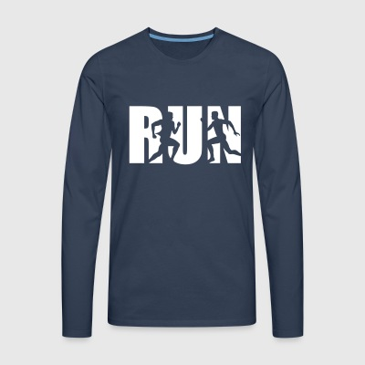 Run, Running, Runner Long sleeve shirts - Men's Premium Longsleeve Shirt
