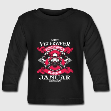 January - fire princess - birthday - outfit - DE Long Sleeve Shirts - Baby Long Sleeve T-Shirt