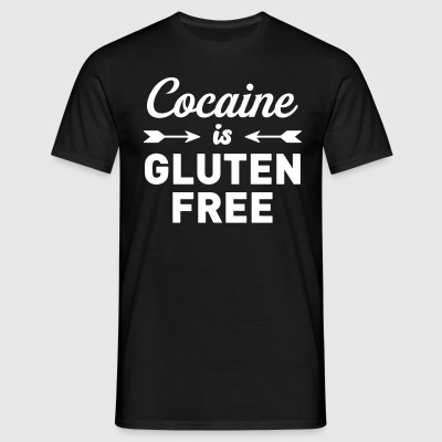 Cocaine is Gluten Free T-Shirts - Men's T-Shirt
