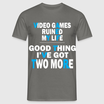 Video games - Video games ruined my life good thin - Men's T-Shirt