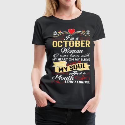 OCTOBER WOMAN T-Shirts - Women's Premium T-Shirt