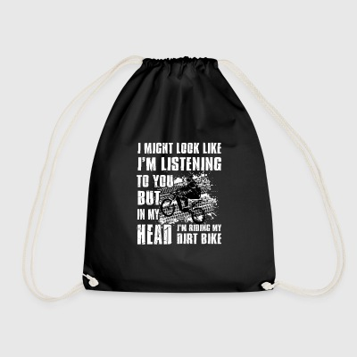 In my head i'm riding my Dirt Bike Bags & Backpacks - Drawstring Bag
