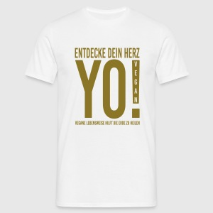 17.YO! VEGAN-German-Gold-Metallic - Männer T-Shirt