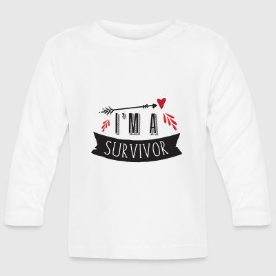 im a survivor with blood arrow Long Sleeve Shirts - Baby Long Sleeve T-Shirt