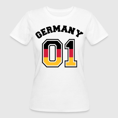 Deutschland 01 - Germany 01 - Flagge - BRD - DE T-Shirts - Frauen Bio-T-Shirt