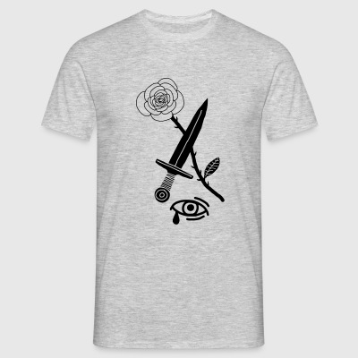 Rose Dagger Eye T-Shirts - Männer T-Shirt