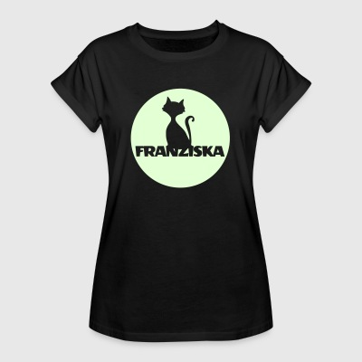 Franziska Nameday first name personal gift moonlig T-Shirts - Women's Oversize T-Shirt