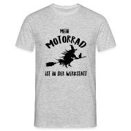 Hexe Motorrad Besen T Shirts   Männer T Shirt
