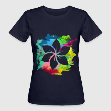 Color Flower T-Shirts - Frauen Bio-T-Shirt