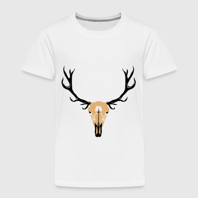 Deer skull and antlers Tee shirts - T-shirt Premium Enfant