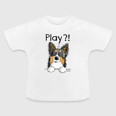 Verspielter Border Collie - Hund - Comic - Dog  T-Shirts - Baby T-Shirt