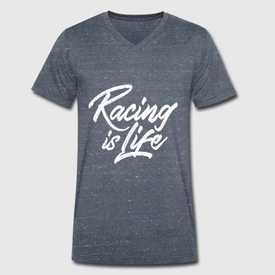 Racing is life Tee shirts - T-shirt bio col en V Stanley & Stella Homme