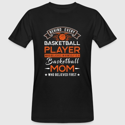 Behind every Basketball player is a Basketball mom Magliette - T-shirt ecologica da uomo