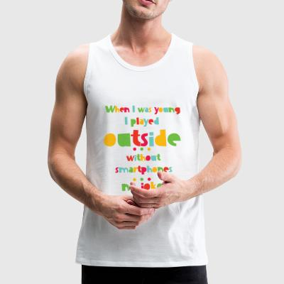90's Kid - played outside Sportbekleidung - Männer Premium Tank Top