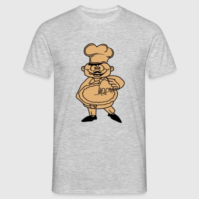 bbq chef baker bakery restaurant cool logo italy l T-Shirts - Men's T-Shirt