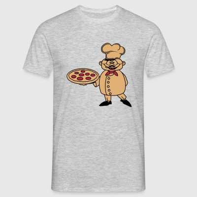 chef baker baker bakery restaurant cool logo italy T-Shirts - Men's T-Shirt
