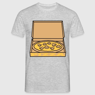 hunger mushrooms fungi mushrooms pizza box carton  T-Shirts - Men's T-Shirt