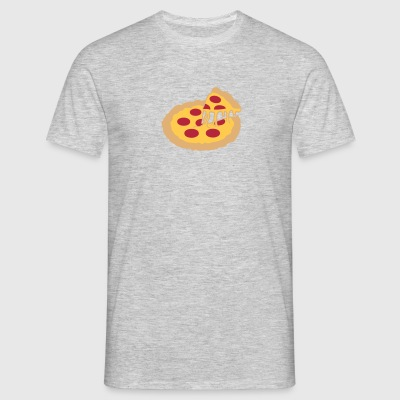 Hot Hunger Cheese Hunger Pie Salami Pizza Deliciou T-shirts - T-shirt herr