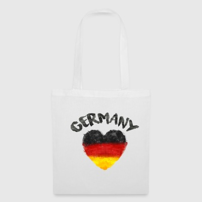 GERMANY HEART WATERCOLOR Bags & Backpacks - Tote Bag
