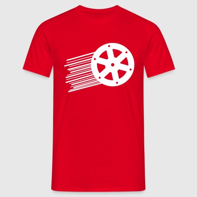 Red White Wheel T-Shirts - Männer T-Shirt