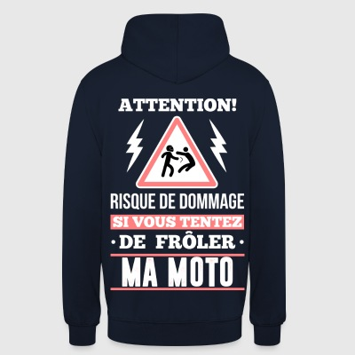 Motard - attention Sweat-shirts - Sweat-shirt à capuche unisexe