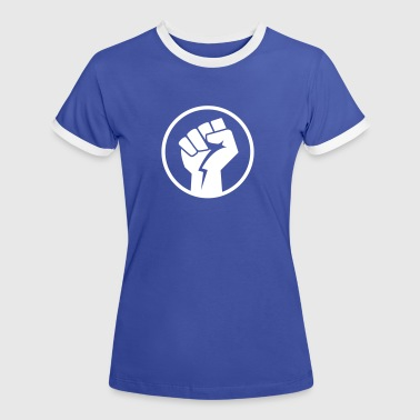faust power fight T-Shirts - Frauen Kontrast-T-Shirt