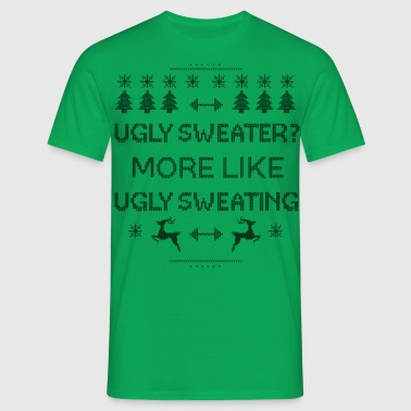 Ugly Sweating Christmas Pattern  - Men's T-Shirt