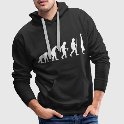Evolution Handstand - Great Gift Design Idea Hoodies & Sweatshirts - Men's Premium Hoodie