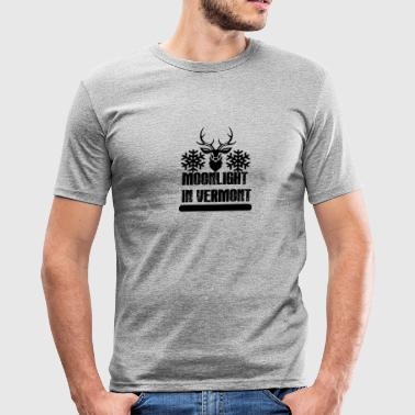 T SHIRT CERF MOONLIGHT IN VERMONT - Tee shirt près du corps Homme