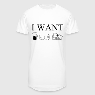 i want  Tee shirts - T-shirt long homme