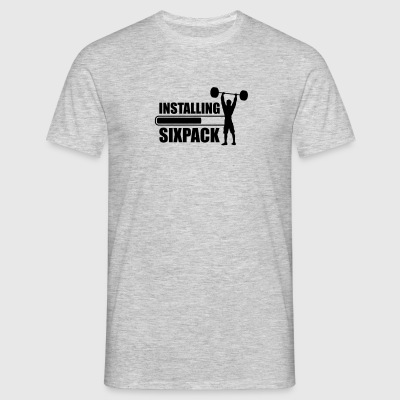 text loading download installiere installing sixpa T-Shirts - Männer T-Shirt