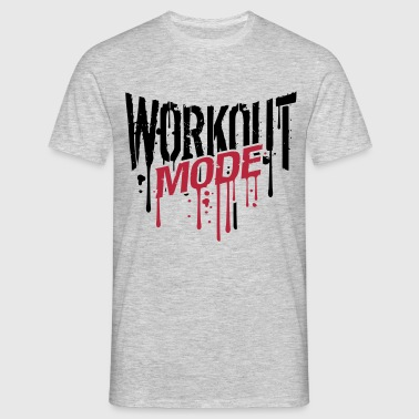 workout fashion graffiti drop gym spray beast cool T-Shirts - Men's T-Shirt